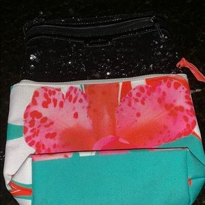 Two cosmetic/travel zip top bags